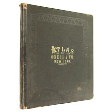 Atlas of Oneida County, New York - large antiquarian atlas from 1874 - Free US Shipping