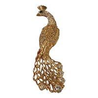 Trifari Vintage Peacock Brooch