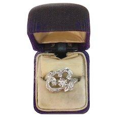Size 6.5 Retro 1953 Diamond Spray 14k Gold Ring