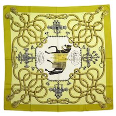 Hermes Silk Scarf 1965 Palefroi Horse