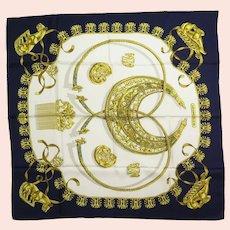 Hermes Silk Scarf Les Cavaliers D'Or Scythian Torq