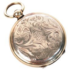 Victorian Pocket Watch Style Gold Filled Photo Locket