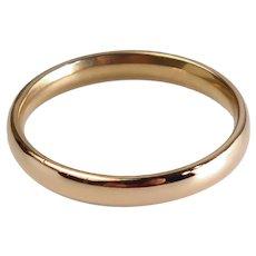 Size 7.5 Vintage Plain 18K Rose Gold Wedding Band Ring