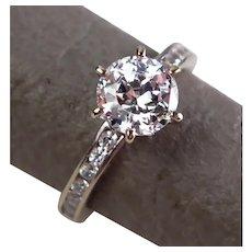 Size 5 Diamonique 100-Facet 2.05 cttw Eternal Love 14K White Gold Ring