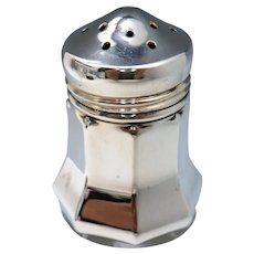 Cartier Individual Mini Sterling Silver Salt Shaker Octagon Base