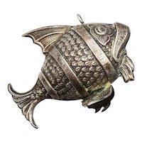 RM Trush Cazenovia Sterling Silver Cleo Fish Ornament