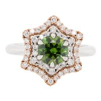 1.19 Carat Demantoid 18 Karat Gold Diamond Engagement Fashion Cocktail Ring