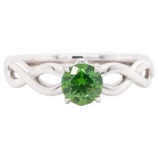 Russian Demantoid 18 Karat Gold Engagement Wedding Fashion Ring