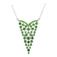 Russian Demantoid 18 Karat White Gold Pendant