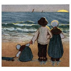 Artist signed Barham postcard of children illustrating an Alexander Pope quote mailed 1908