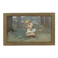 Artist signed Barham postcard of Fairy posted 1914