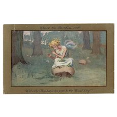 Artist signed Barham postcard of Fairy posted 1914
