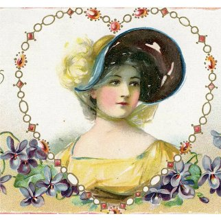 British, Tuck & Sons, glamour woman Valentine's Day postcard mailed 1908