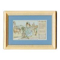 Framed to reveal both sides 1914 Caldecott Nursery Rhyme postcard