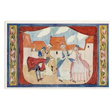 Rie Kramer unmarked postcard of marionettes