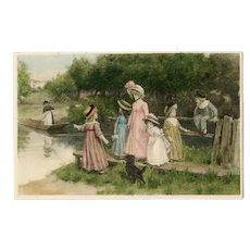 M M Vienne marked 1911 postcard with children