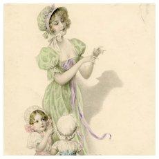 Artist signed undivided back Wichera/M M Vienne postcard shadow puppet