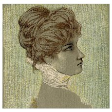 Undivided back, Italian, artist signed Raphael Kirchner postcard of a glamour woman