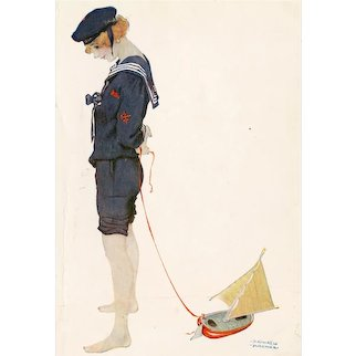 British, artist signed Raphael Kirchner postcard glamour woman sailor mailed 1919