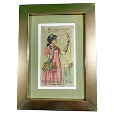 Framed Broadhead Dress Goods out of Chautauqua County New York Advertising card