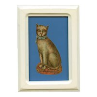 Framed Victoria trading card for cat advertising Lavine soap