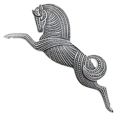 Vintage Sterling Deco-Style Leaping Horse
