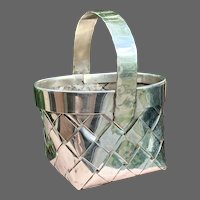 Rare Handmade by Schroth Sterling Woven Mini Basket
