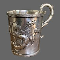"Civil War Era Coin Silver Cup, ""Mary Kate"""