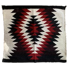 Small Navajo Eye-Dazzler Throw Rug