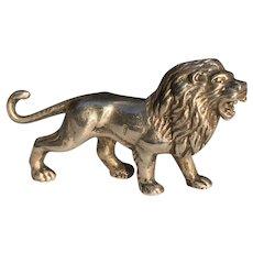 Vintage Egyptian Sterling Miniature Lion