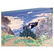 "30"" x 40"" California Coast Landscape, Acrylic by Raymon Ginghofer"