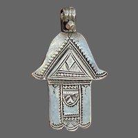 Antique 800 Silver Berber Tribal Hamsa/Hand of Fatima