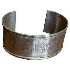 North African Sterling Tribal Bracelet