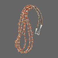 Southwestern-style Coral and Heishe Artisan Necklace