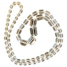 Art Deco Crystal Long Necklace