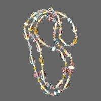 "Artisan-Strung Vintage ""Candy"" Flapper Necklace"