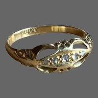 Antique Victorian 18 CT Gold and Diamond Ring