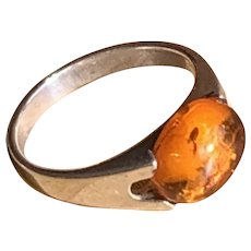 Baltic Amber set in Sterling Ring