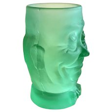 Antique Novelty Uranium Glass Humpty Dumpty Cup