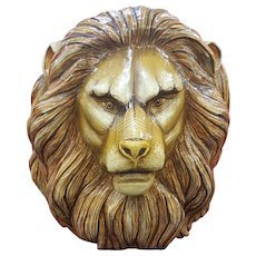 Sergio Bustamante paper mache signed and numbered lions head