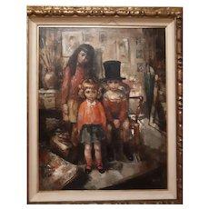 Bernard Locca, Italian artist oil painting