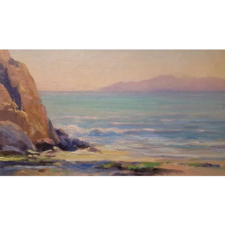 Alexis Matthew Podchernikoff, Ca. artist oil painting, Color Study of Bay Shore