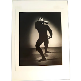Barbara Morgan, photograph depiction Spanish Dancer Jose Limon, Chaconne
