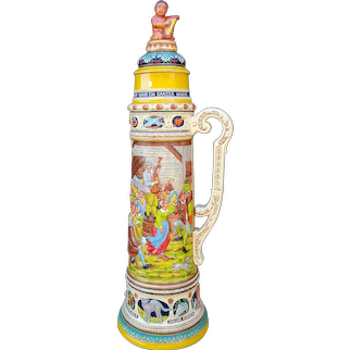 W. germany Gerz, One Of The World's Largest Stein's, 4' tall