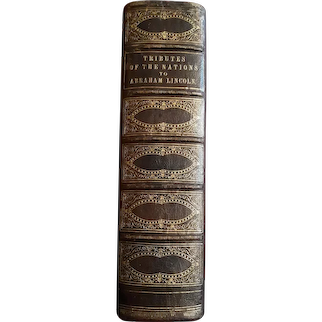 The Assassination of Abraham Lincoln, 1/100 copies, 1867 full leather binding, Samuel F. Cary, Ohio Senator collection