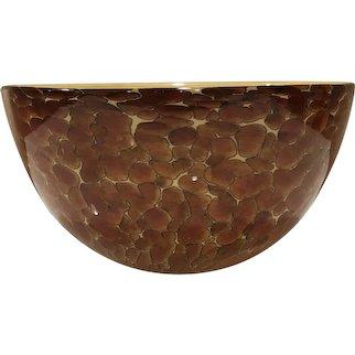 Michael Cohn & Molly Stone Signed Art Glass Tortoise Shell Bowl
