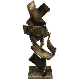 FANTONI Signed Brutalist Metal Italian Sculpture