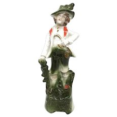 Beautiful Porcelain Figure Katzhutte Germany Antique German 1890's