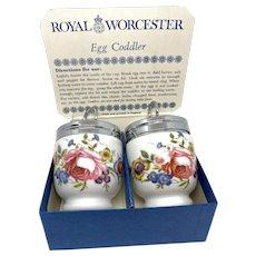 Royal Worcester Porcelain Egg Coddler Bourne-mouth Design Vintage England