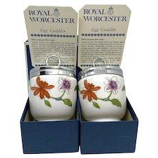 Royal Worcester Porcelain Egg Coddler Astley Design Vintage England